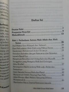 Buku Wali Allah Versus Wali Setan Daftar Isi