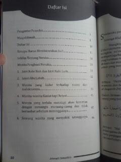 Buku Wanita Penghuni Neraka Daftar Isi