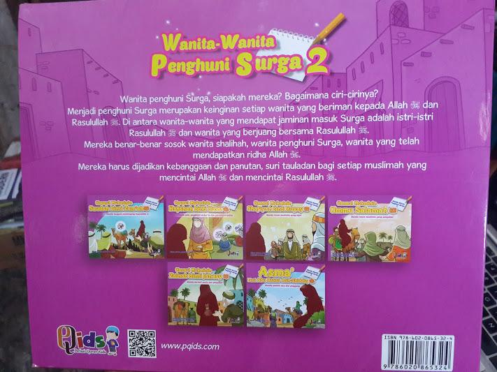 Buku Anak Wanita Wanita Penghuni Surga 1 Set 6 Jilid Seri 2 Cover