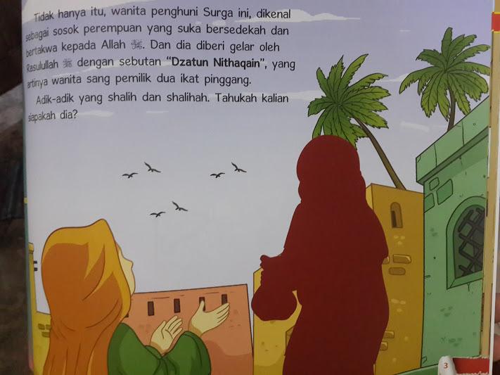 Buku Anak Wanita Wanita Penghuni Surga 1 Set 6 Jilid Seri 2 Isi