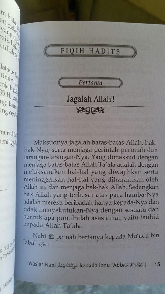 wasiat nabi kepada ibnu abbas buku isi