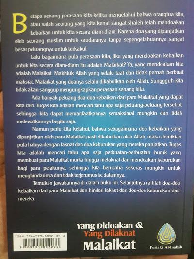 Buku Yang Didoakan Dan Yang Dilaknat Malaikat Cover 2