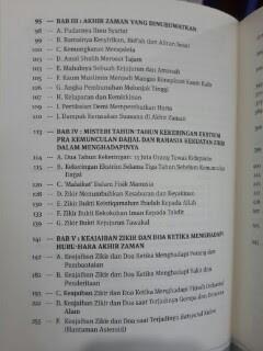 Buku Zikir Akhir Zaman Daftar Isi