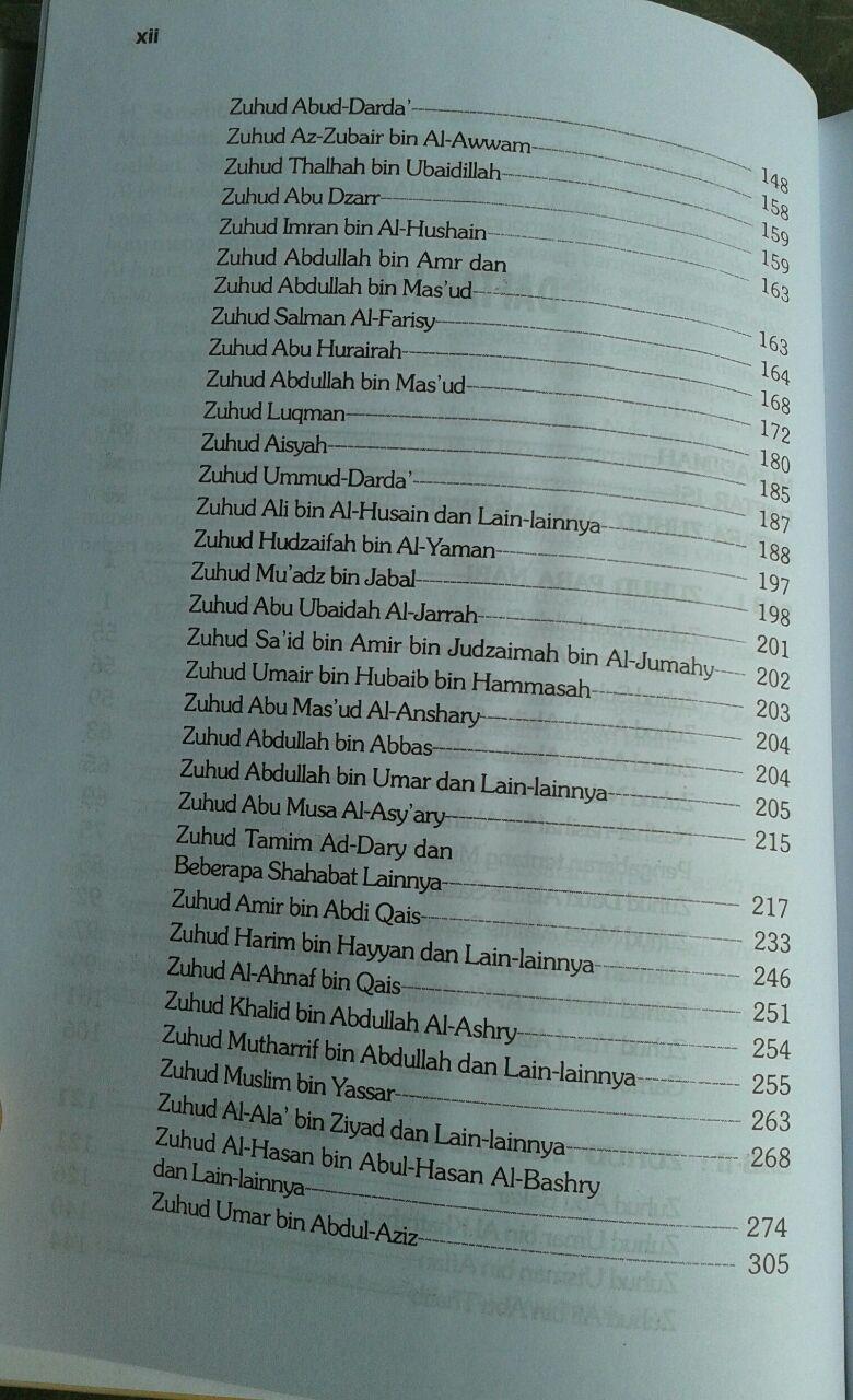 Buku Zuhud Cahaya Qalbu isi