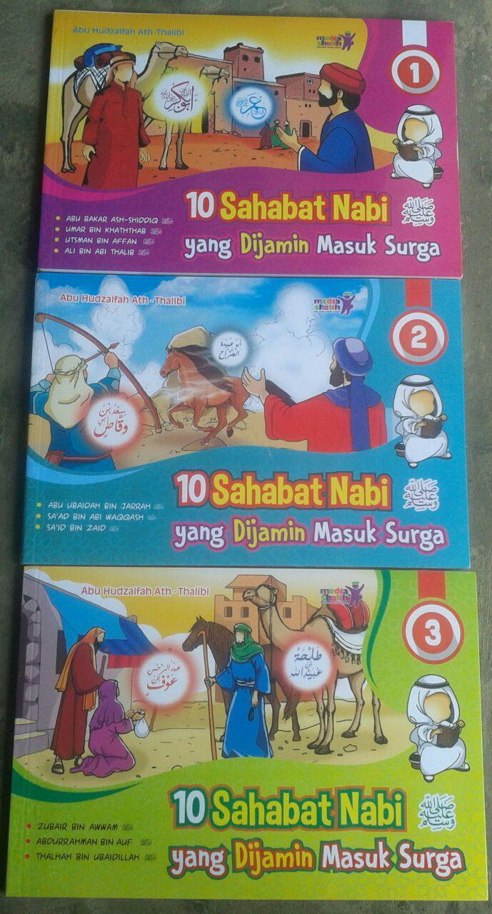 10 sahabat nabi yang dijamin masuk surga 1set 3jilid buku anak cover 4