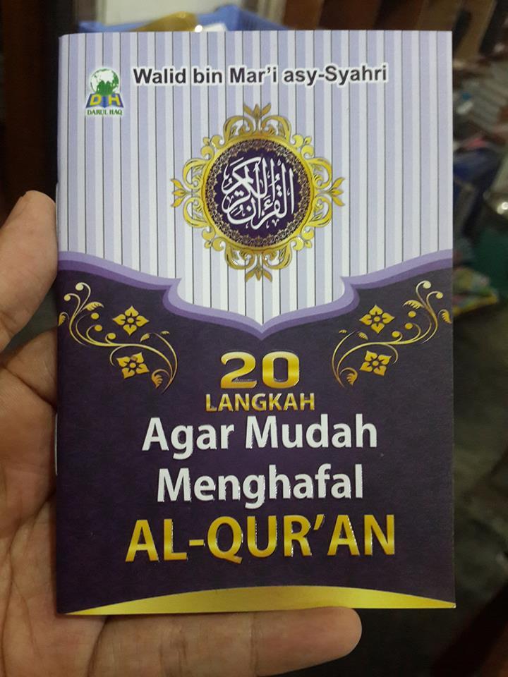 20 langkah agar mudah menghafal al-Qur'an saku cover