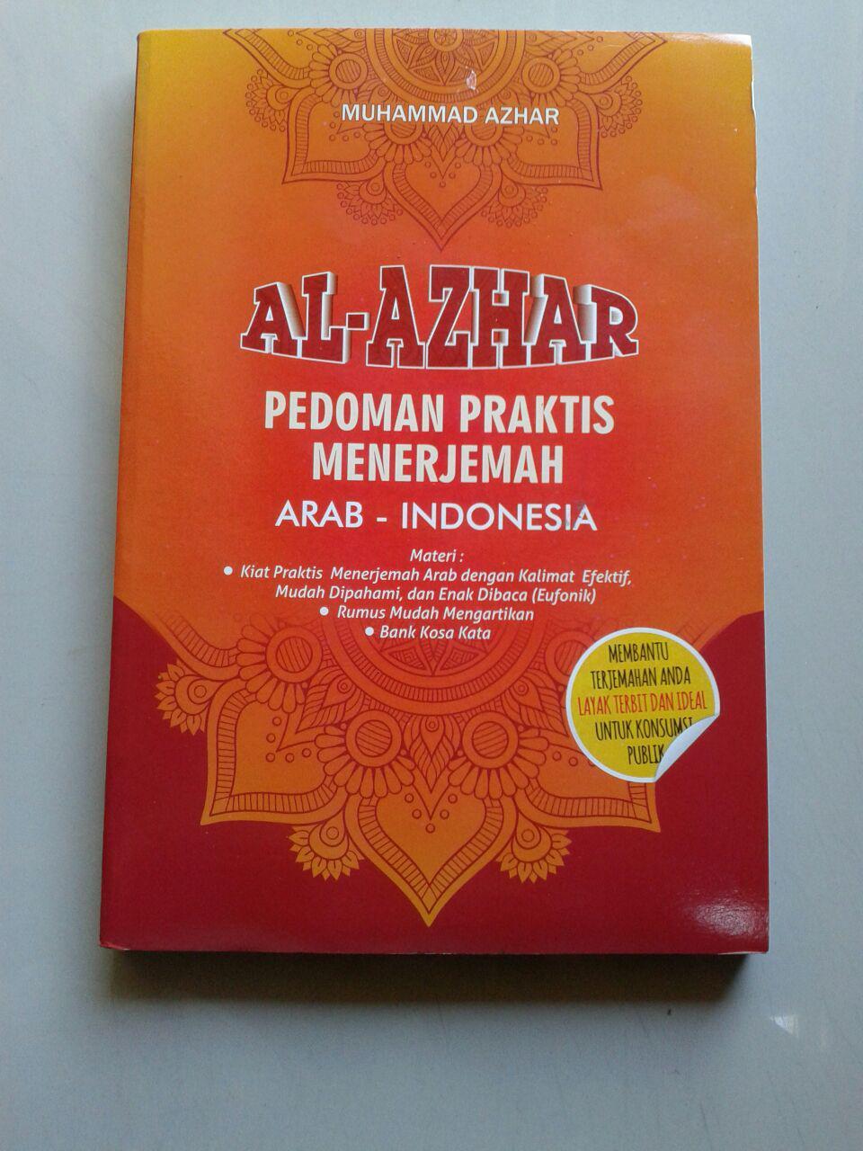 Buku Al-Azhar Pedoman Praktis Menerjemah Arab-Indonesia cover 2