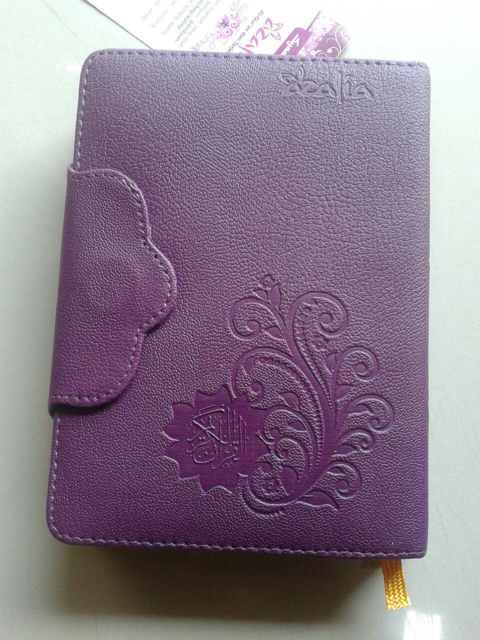 Al-Qur'an Mushaf Terjemah Yasmina Sampul Kancing Magnet Ukuran B6 cover