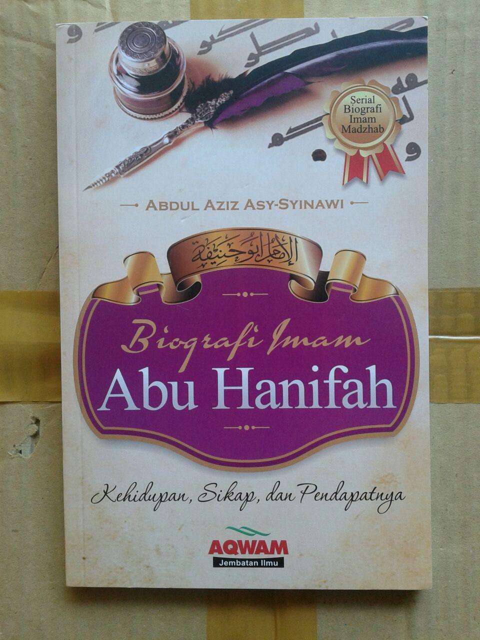 Buku Biografi Imam Abu Hanifah cover