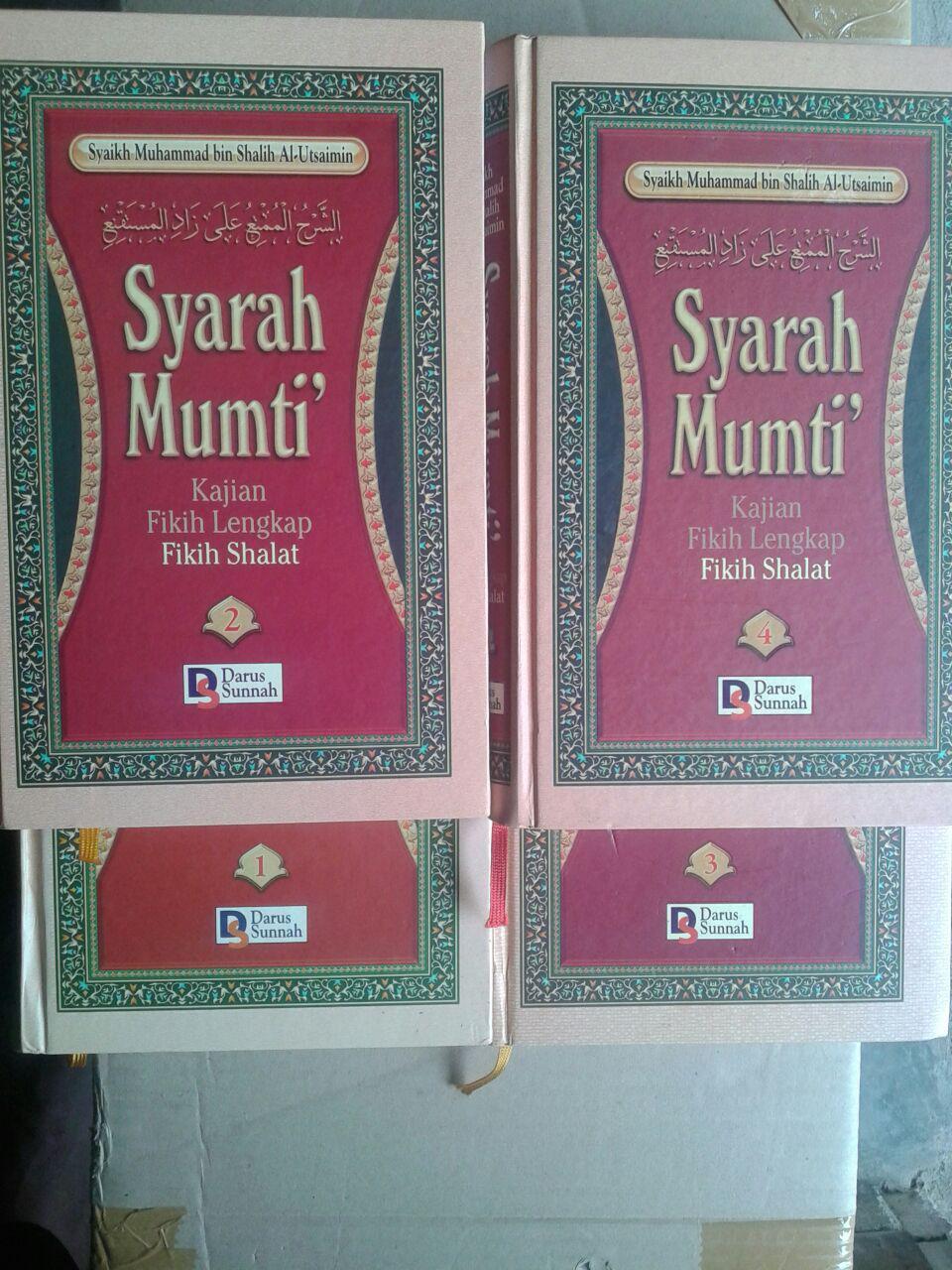 Buku Syarah Mumti' Oleh Syaikh Utsaimin 1 Set 4 Jilid cover