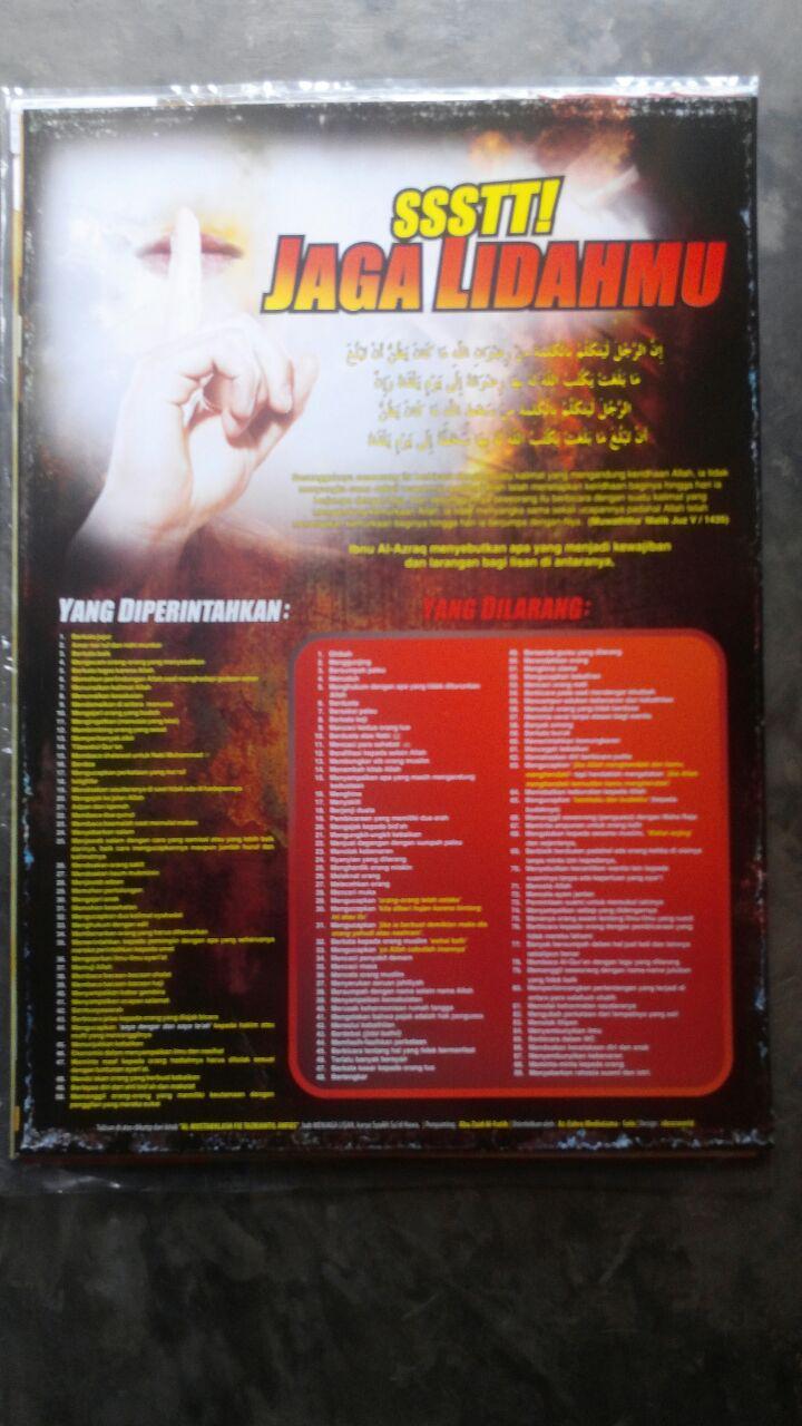 Poster Ssst Jaga Lidahmu 15.000 15% 12.750 Granada Mediatama
