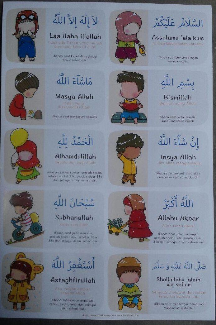 Poster Anak Kalimah Thayyibah 12,000 10% 10,800 isi