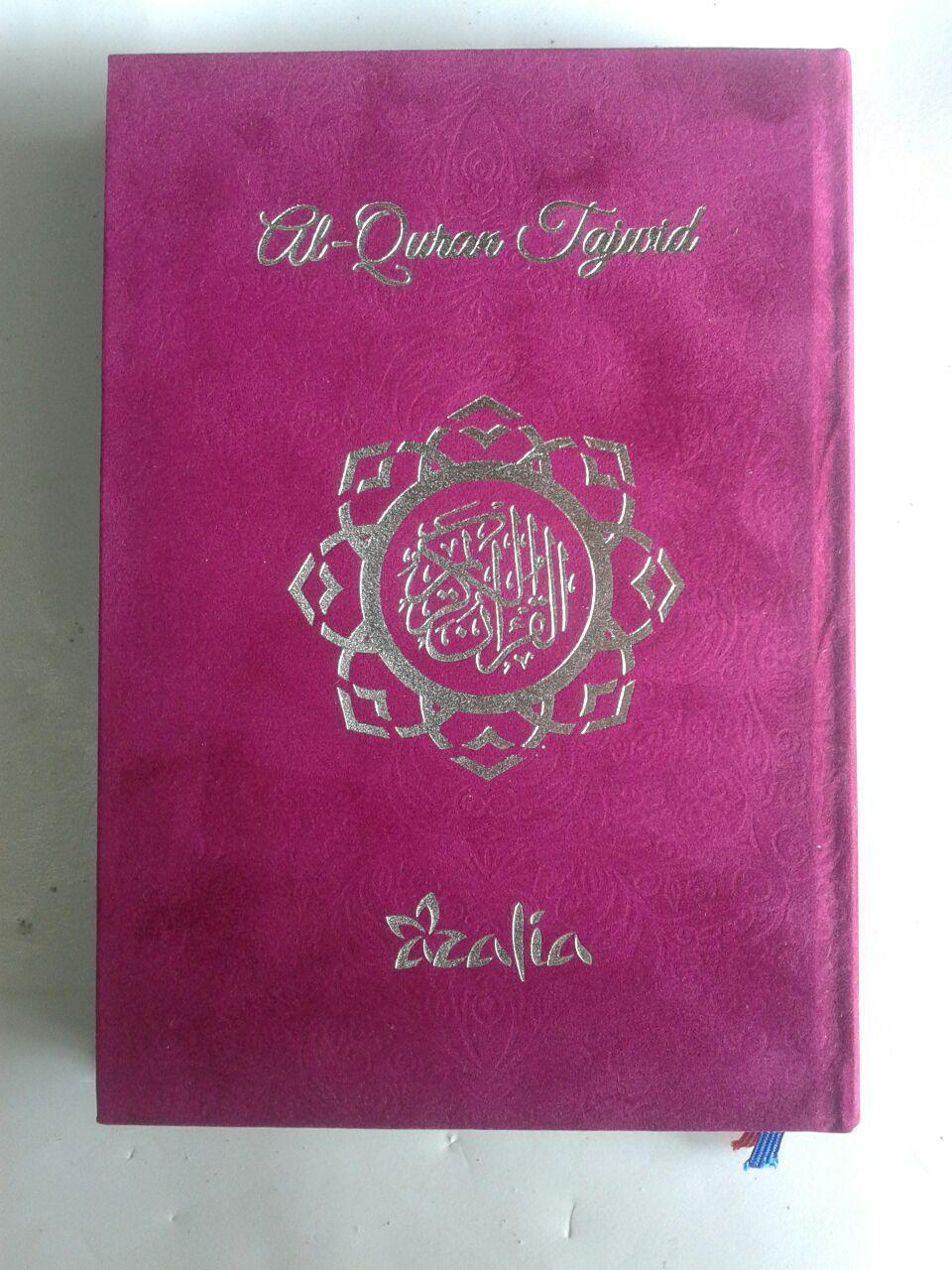 Al-Qur'an Tajwid Azalia Ukuran A5 Sampul Bludru cover