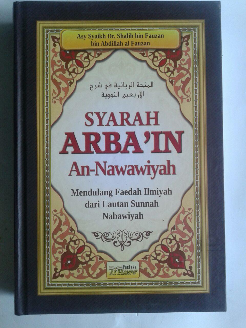 Buku Syarah Arbain An-Nawawiyah Mendulang Faedah Ilmiyah cover 2
