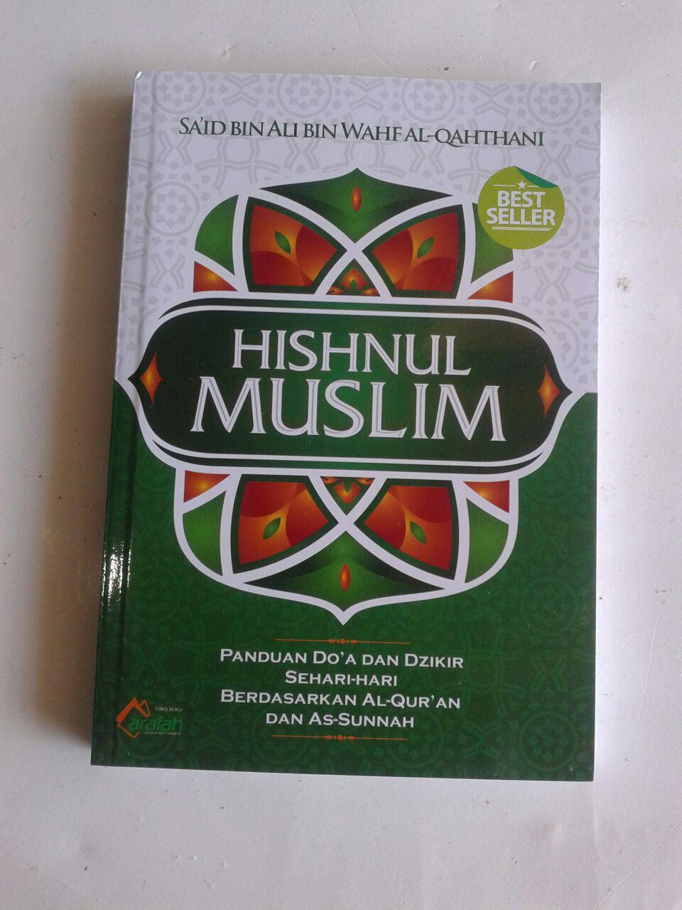 Buku Saku Hishnul Muslim Panduan Doa Dan Dzikir Sehari Hari cover 2