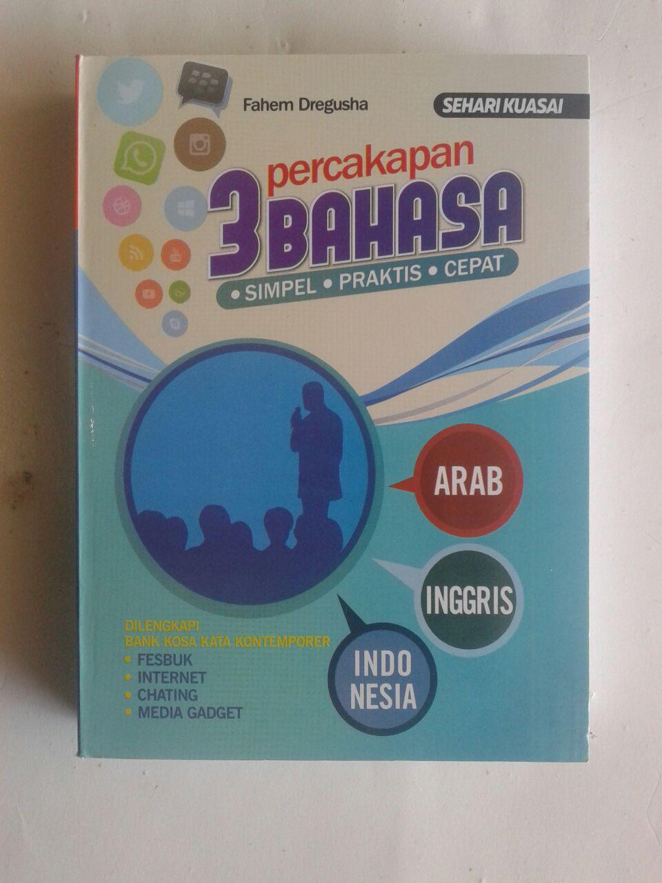 Buku Sehari Kuasai Percakapan 3 Bahasa Simpel Praktis Cepat cover 2