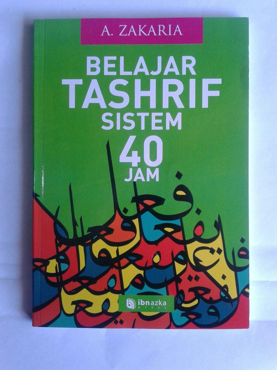 Buku Belajar Tashrif Sistem 40 Jam cover