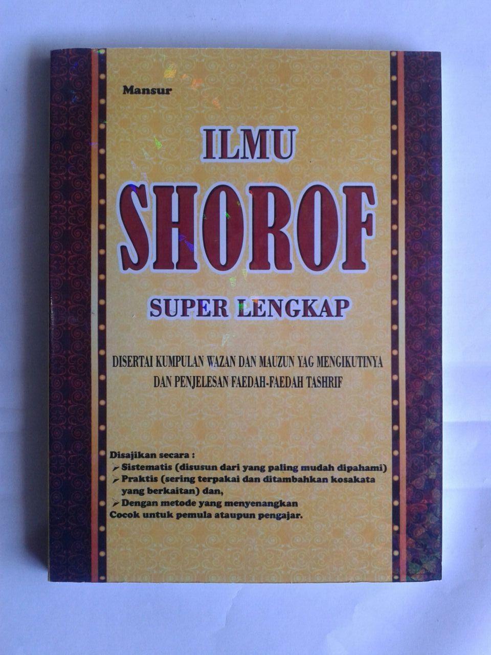 Buku Ilmu Shorof Super Lengkap Plus Faedah Tashrif cover 2