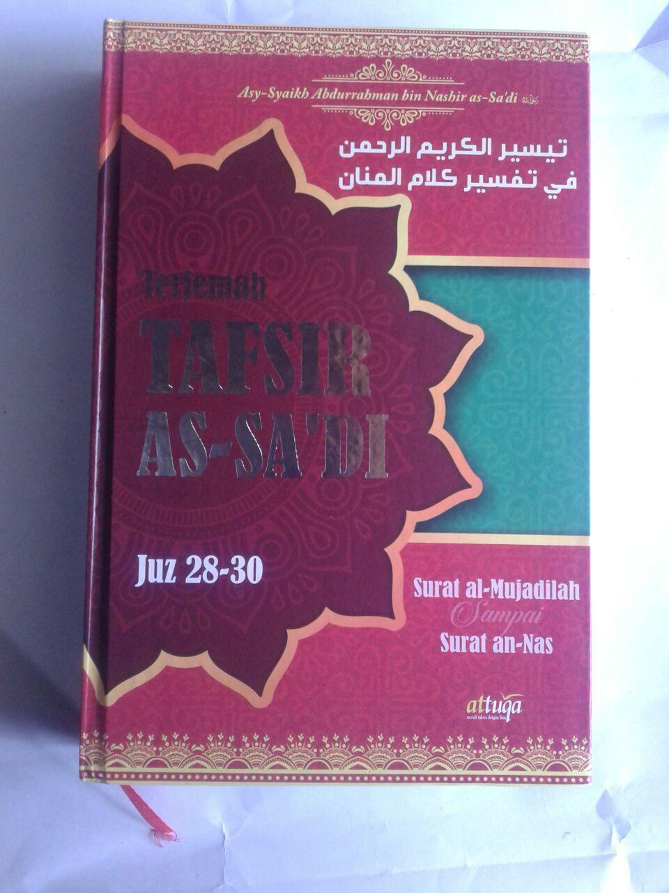 Buku Terjemah Tafsir As-Sa'di Juz 28-30 cover 3