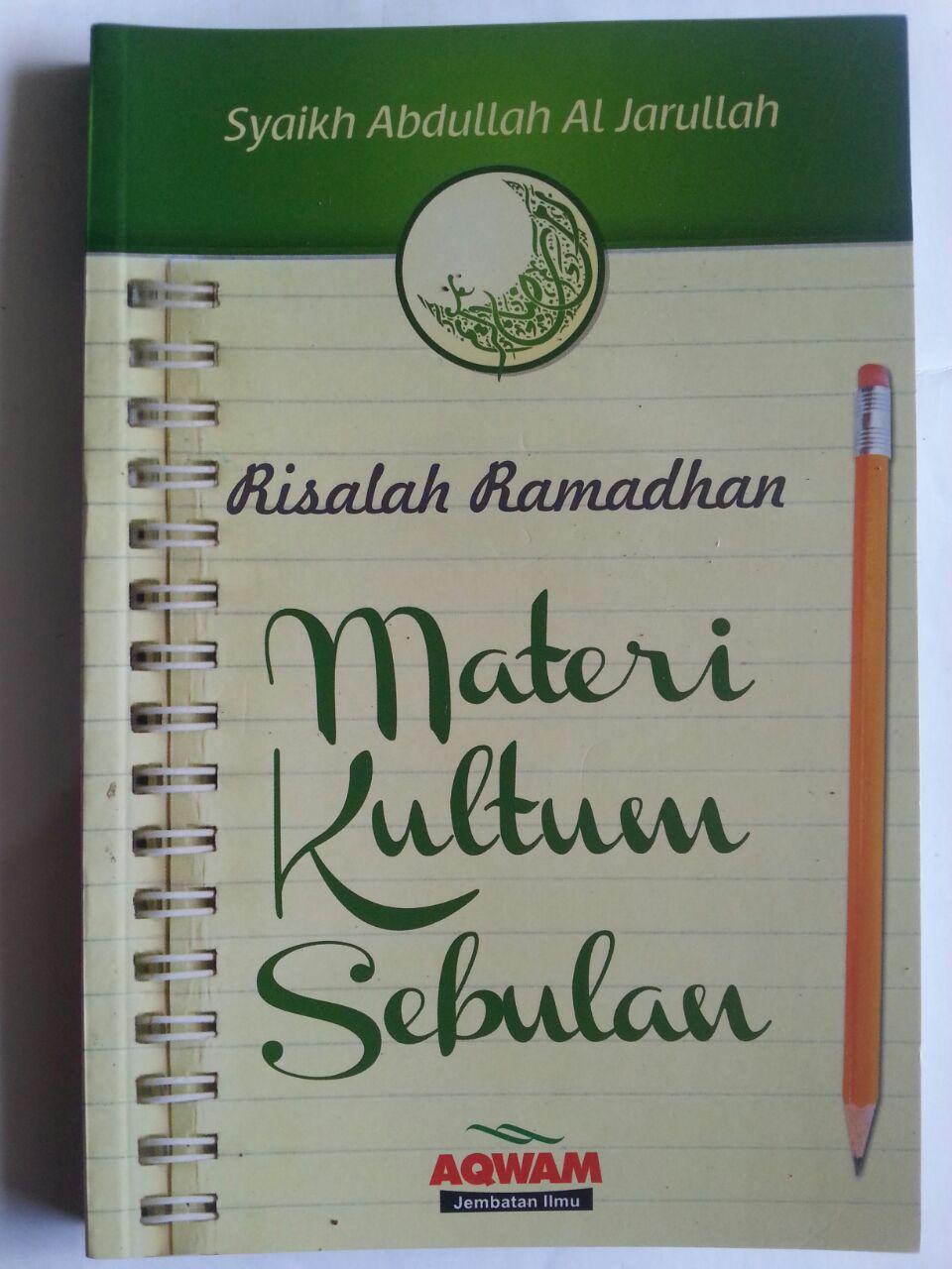 Buku Risalah Ramadhan Materi Kultum Sebulan cover 2