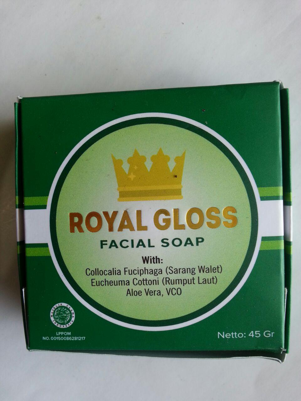 Sabun Wajah Royal Gloss Facial Foam cover