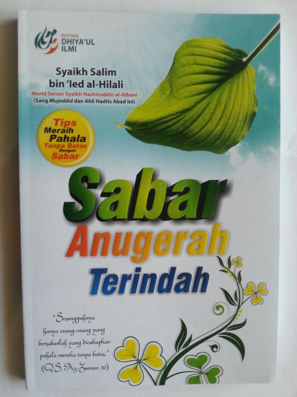 Buku Sabar Anugerah Terindah Tips Meraih Pahala Tanpa Batas cover 2