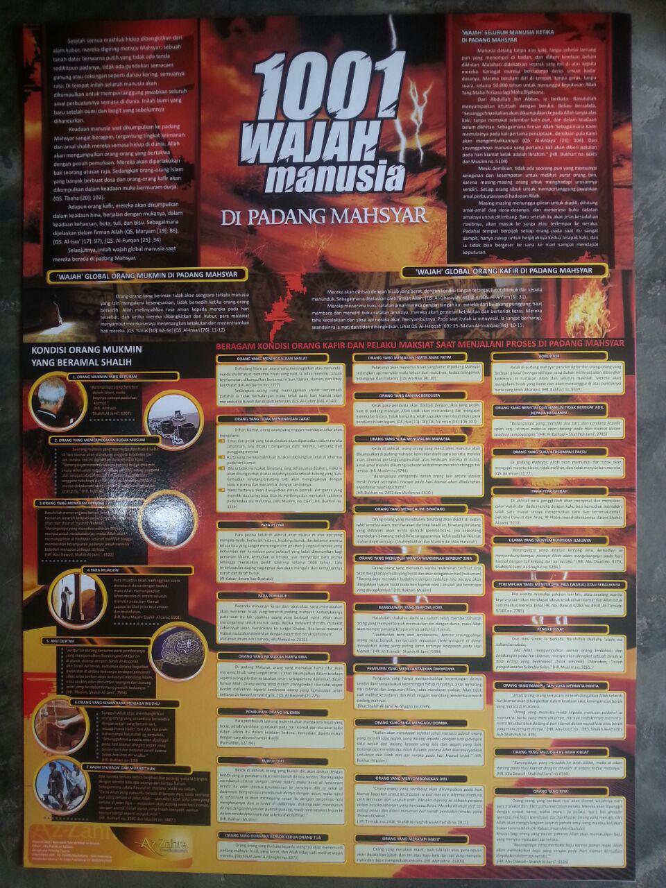 Poster 1001 Wajah Manusia Di Padang Mahsyar 3