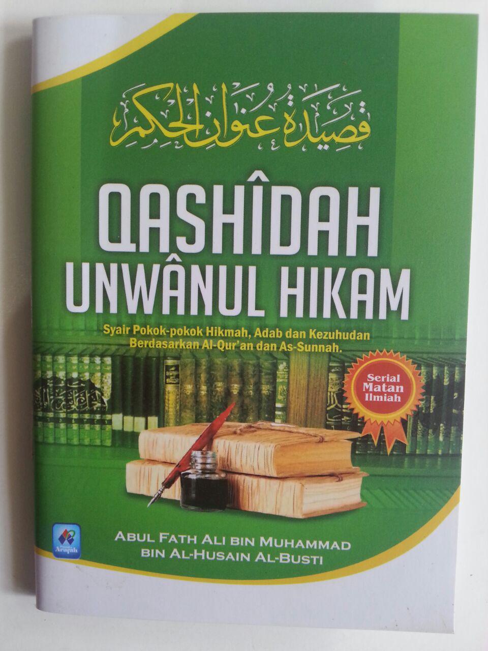 Buku Saku Qashidah Unwanul Hikam Syair Pokok Hikmah Adab cover 2
