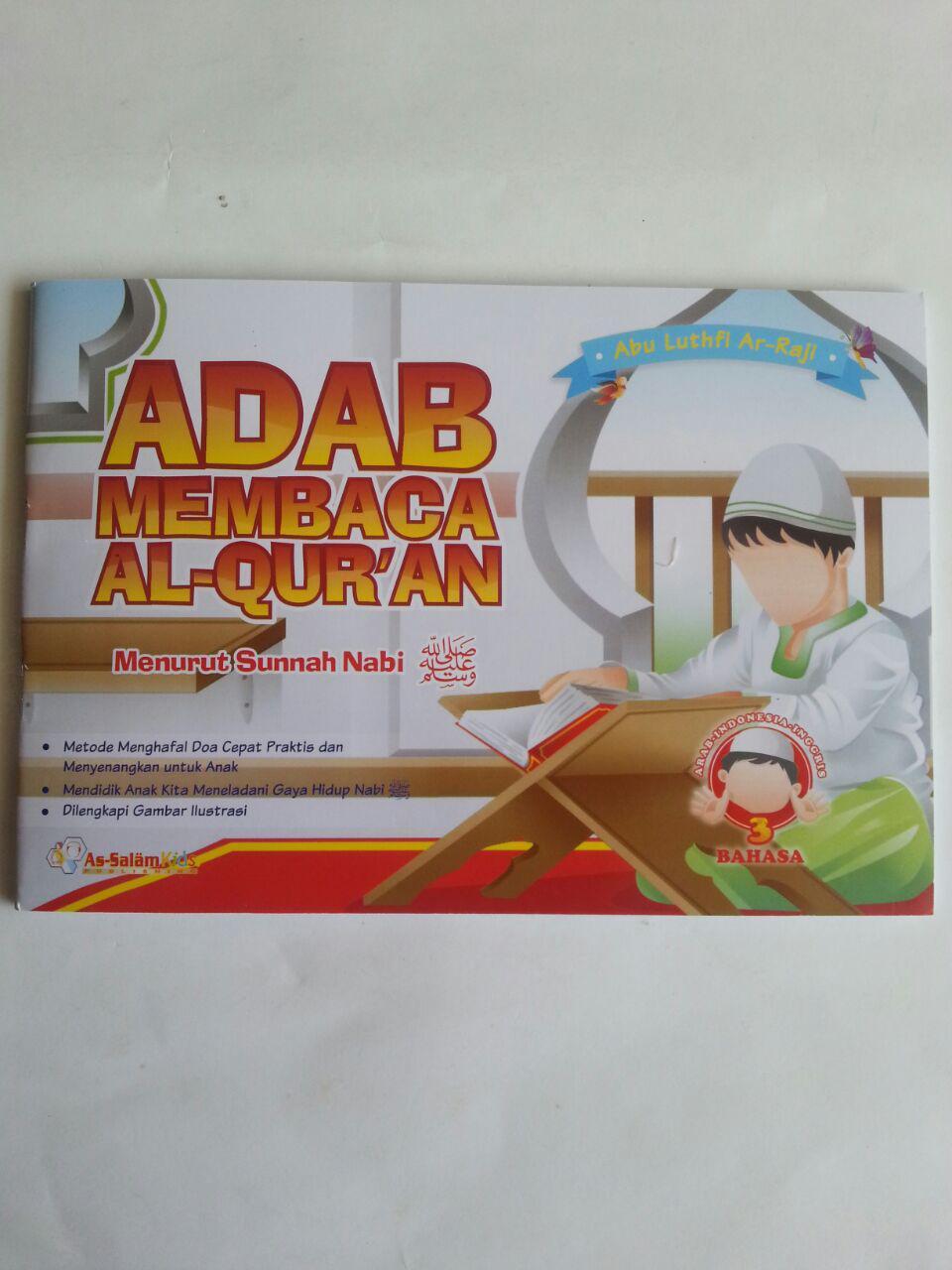 Buku Anak Adab Membaca Al-Qur'an menurut Sunnah Nabi cover 2