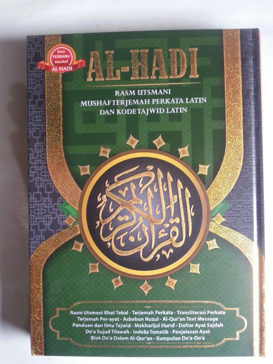 Al-Qur'an Al-Hadi Rasm Utsmani Mushaf Terjemah Perkata Tajwid A4 cover