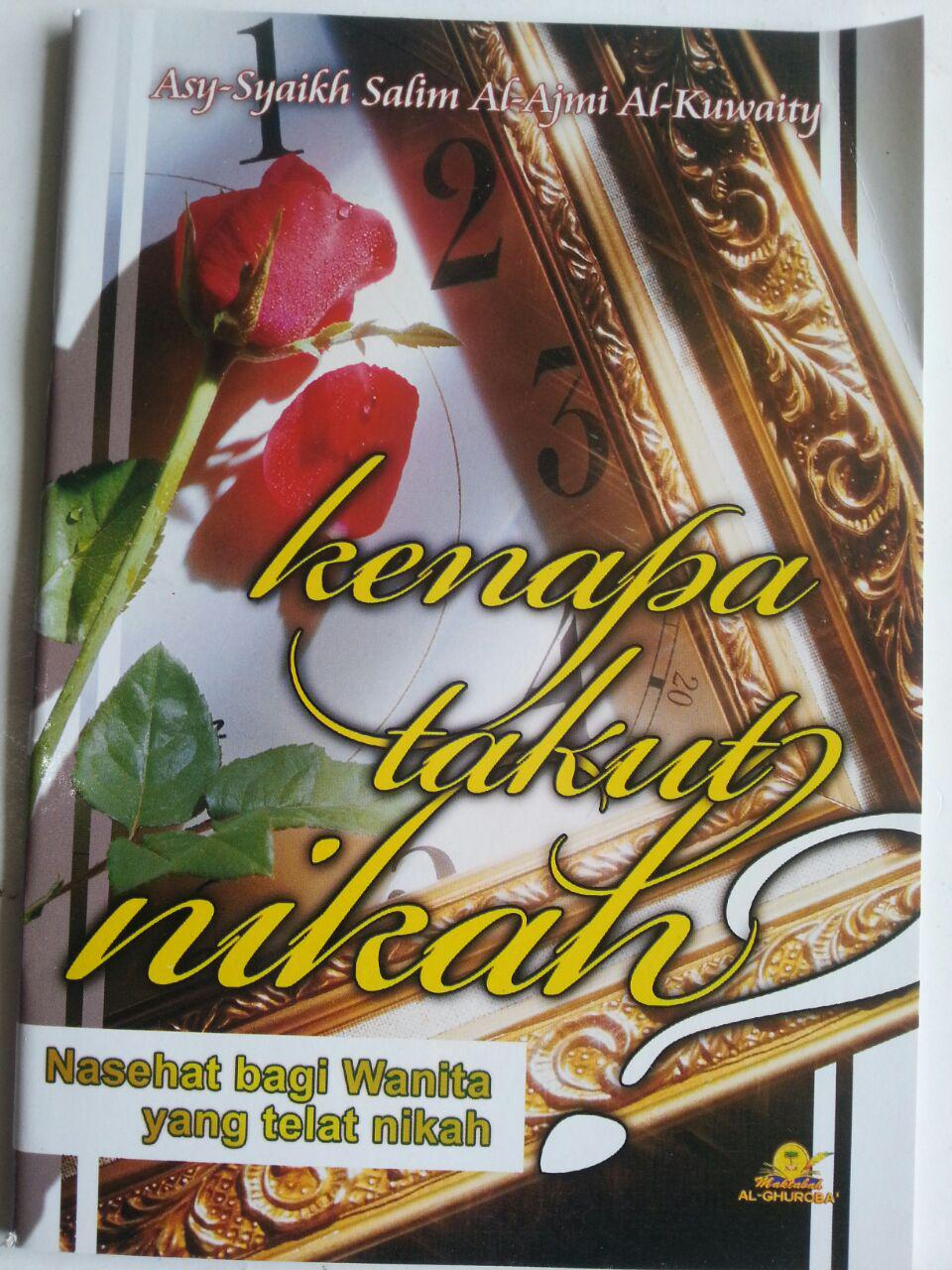 Buku Kenapa Takut Nikah Nasihat Bagi Wanita Yang Telat Nikah cover 2