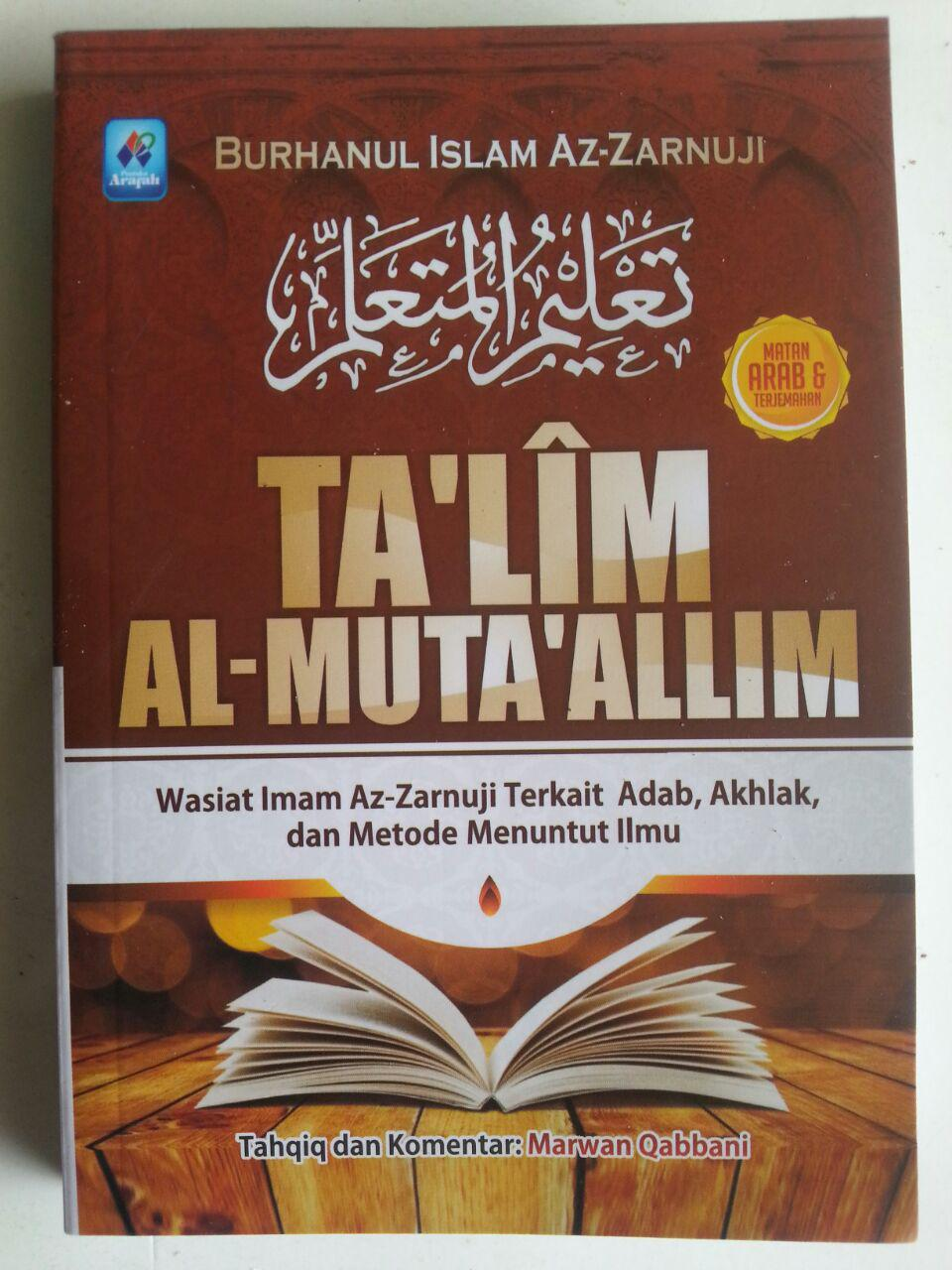 Buku Ta'lim Al-Muta'allim Wasiat Terkait Adab Akhlak Menuntut Ilmu cover 2