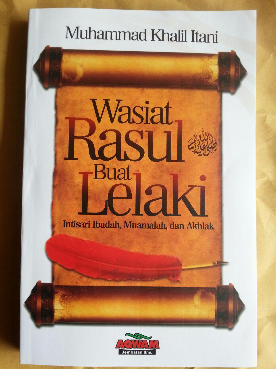 Buku Wasiat Rasul Buat Lelaki Intisari Ibadah Muamalah Akhlak cover 2