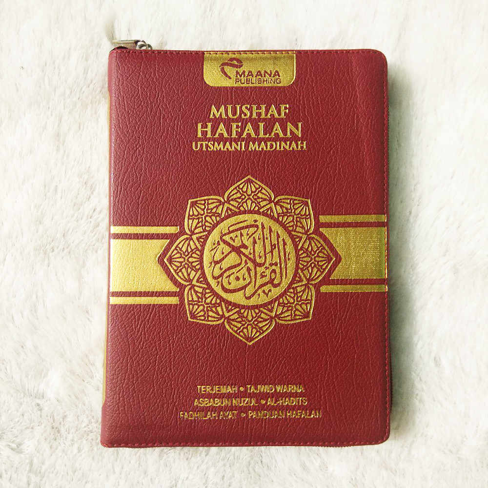 Al-Qur'an Mushaf Hafalan Utsmani Madinah Terjemah Tajwid Resleting A5 - 1