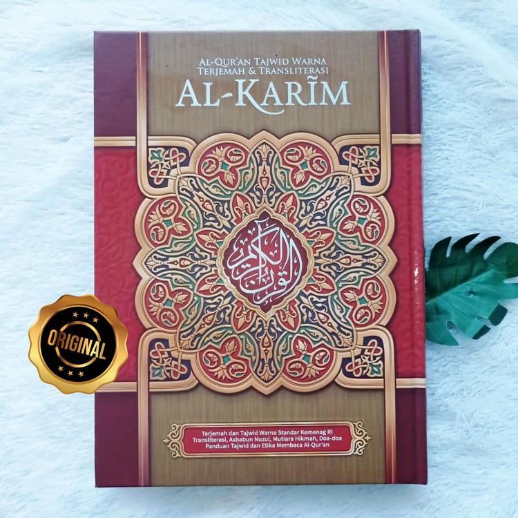 Al-Qur'an Tajwid Warna Terjemah Transliterasi Al-Karim A4