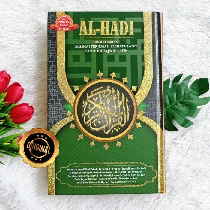 Al-Qur'an Al-Hadi Rasm Utsmani Mushaf Terjemah Perkata Tajwid B5