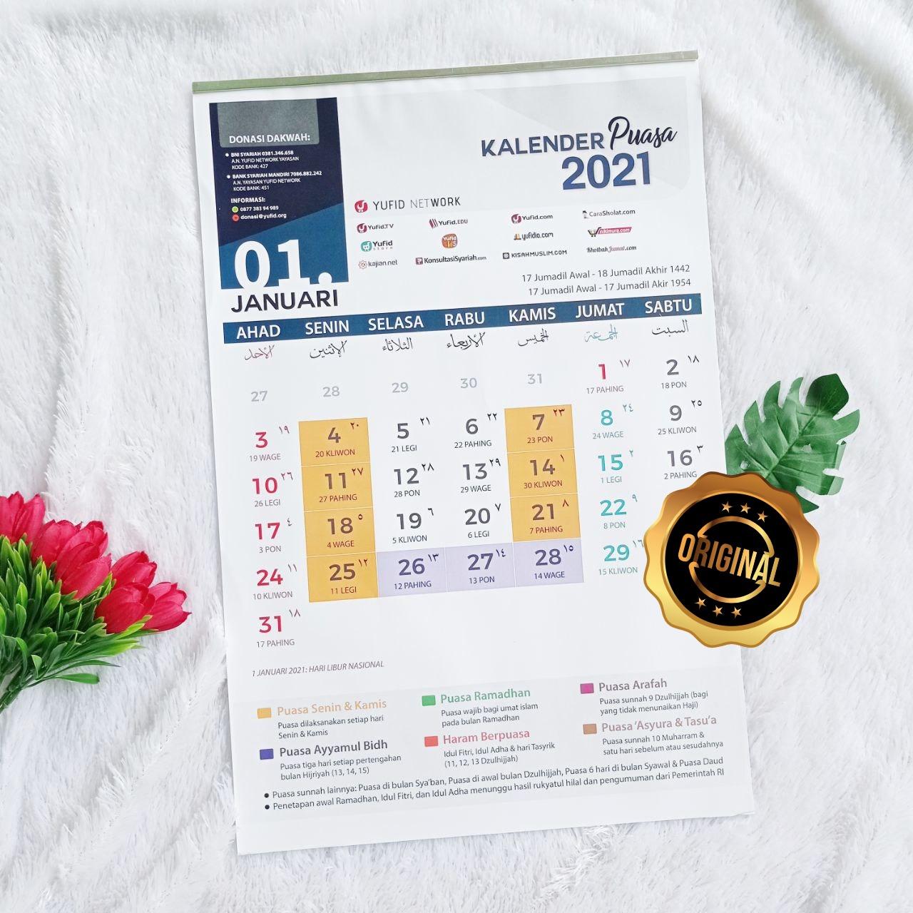 Kalender Masehi Edisi Puasa Yufid 2021