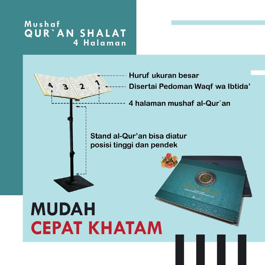 Al-Qur'an Shalat Mushaf 4 Halaman Sarana Mudah Khatam Plus Stand 2