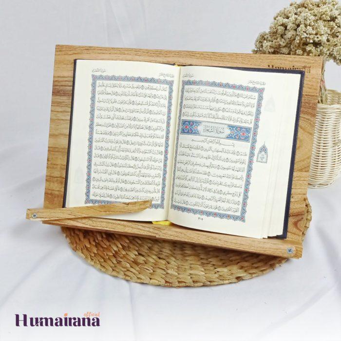 bookstand wood sandaran buku