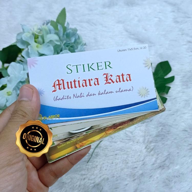 Stiker Mutiara Kata Hadits Nabi Dan Kalam Ulama
