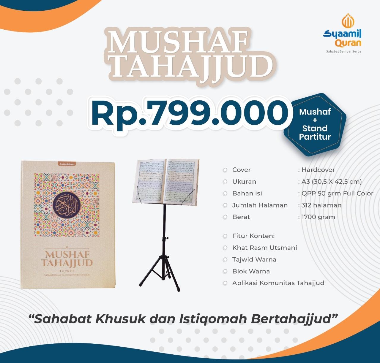 Al-Quran Mushaf Tahajjud Ukuran A3 Plus Stand Partitur
