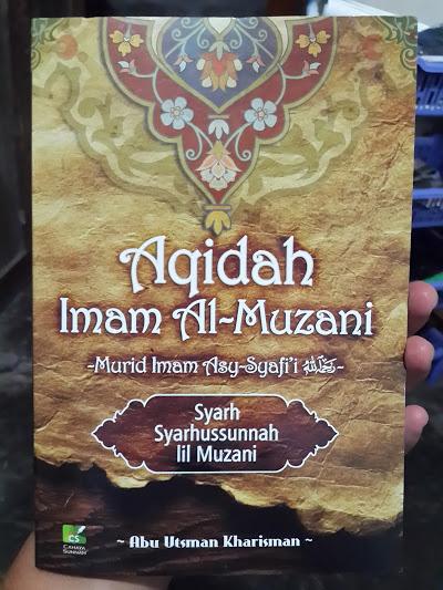 Buku Aqidah Imam Al-Muzani Murid Imam Asy-Syafi'i Cover