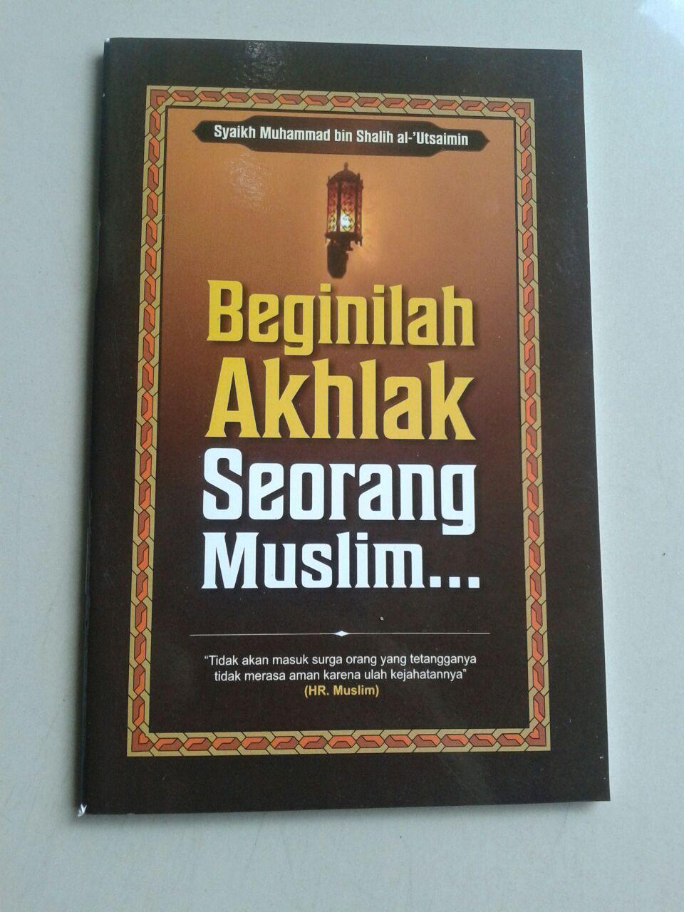 Buku Saku Beginilah Akhlak Seorang Muslim cover 2