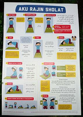 Poster Anak Aku Rajin Sholat Sesuai Sunnah Rasulullah Big