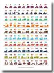 Poster Anak Angka 1–100 Dilengkapi Gambar Lucu Kendaraan