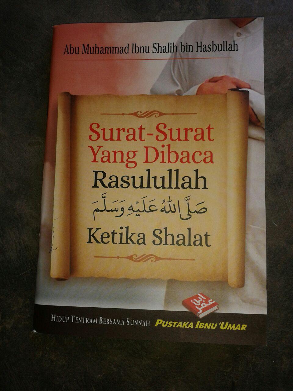 Buku Saku Surat Surat Yang Dibaca Rasulullah Ketika Shalat cover